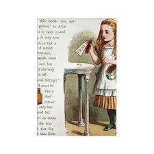 Alice in Wonderland Drink Me Rectangle Magnet