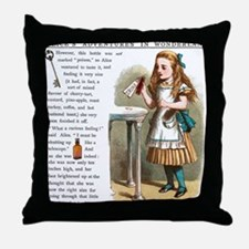 Alice in Wonderland Drink Me Throw Pillow