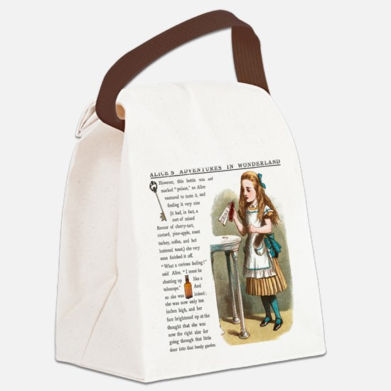 Alice in Wonderland Drink Me Canvas Lunch Bag