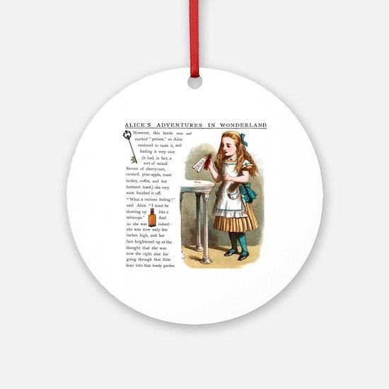 Alice in Wonderland Drink Me Round Ornament