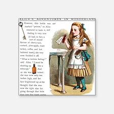 """Alice in Wonderland Drink M Square Sticker 3"""" x 3"""""""