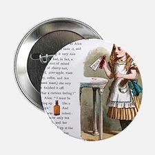 """Alice in Wonderland Drink Me 2.25"""" Button"""