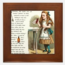 Alice in Wonderland Drink Me Framed Tile