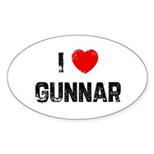 I * Gunnar Oval Decal