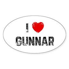 I * Gunnar Oval Decal