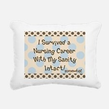 i survived nursing brown Rectangular Canvas Pillow