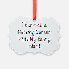i survived nursing WORDS Ornament
