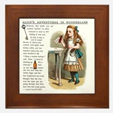 Alice in Wonderlan Drink Me Framed Tile