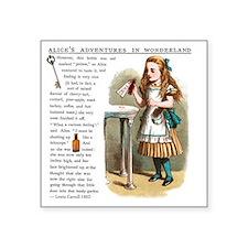"Alice in Wonderlan Drink Me Square Sticker 3"" x 3"""