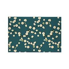 3x5 Cream Cherry Blossoms with de Rectangle Magnet