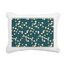 3x5 Cream Cherry Blossom Rectangular Canvas Pillow