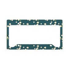 3x5 Cream Cherry Blossoms wit License Plate Holder