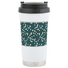 3x5 Cream Cherry Blosso Travel Mug