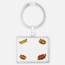Comics Are Better Than Work Landscape Keychain
