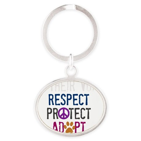 Be Their Voice (2) Oval Keychain