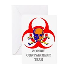 Zombie Containment Team Shirt Greeting Card