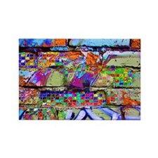The Wow Abstract Wall Rectangle Magnet