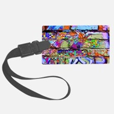 The Wow Abstract Wall Luggage Tag