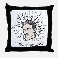 team-tesla-LTT Throw Pillow