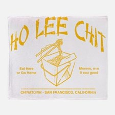 HO LEE CHIT chinese restaurant funny Throw Blanket