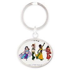 ISAMETD - Unity Through Dance Oval Keychain