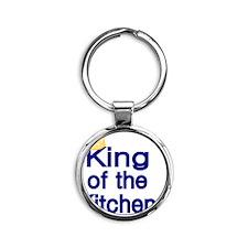 King of the Kitchen Round Keychain