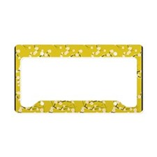 3x5 White Cherry Blossoms wit License Plate Holder