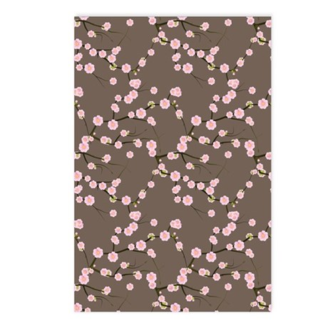 Long Pink Cherry Blossom Postcards (Package of 8)