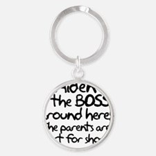 Aiden is the Boss Round Keychain