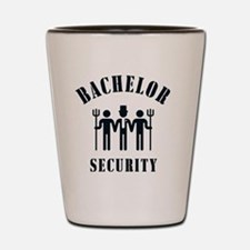 Bachelor Security (Stag Night / Black) Shot Glass