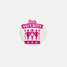 Bride Security (Hen Party / Pink) Mini Button