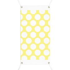 Bright Yellow Polkadot Banner