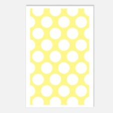 Bright Yellow Polkadot Postcards (Package of 8)