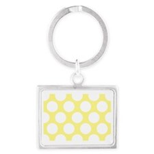 Bright Yellow Polkadot Landscape Keychain