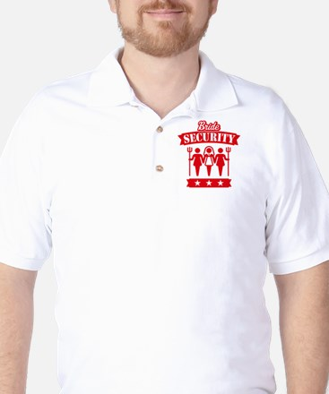 Bride Security (Hen Party / Red) Golf Shirt