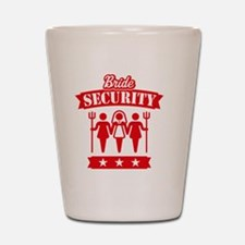 Bride Security (Hen Party / Red) Shot Glass