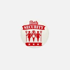 Bride Security (Hen Party / Red) Mini Button