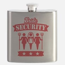 Bride Security (Hen Party / Red) Flask