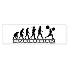 Evolution (Man Weightlifting) Bumper Bumper Sticker