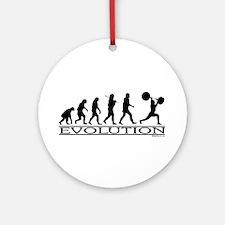 Evolution (Man Weightlifting) Ornament (Round)