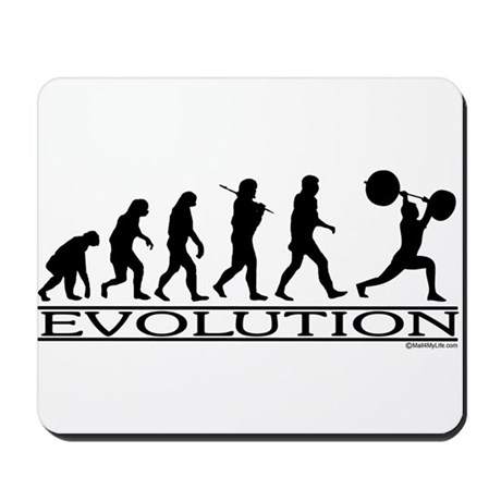Evolution (Man Weightlifting) Mousepad