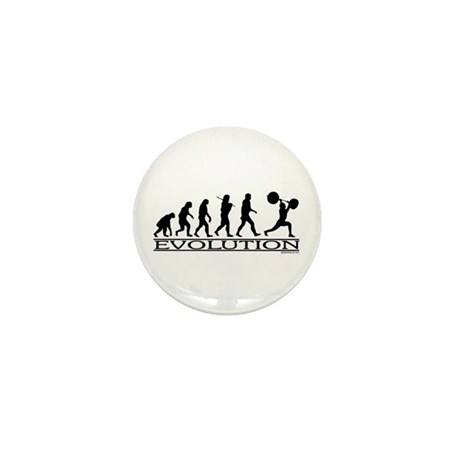 Evolution (Man Weightlifting) Mini Button