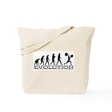 Evolution (Man Weightlifting) Tote Bag