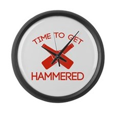 Time To Get Hammered Large Wall Clock