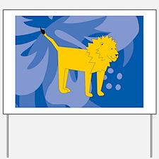 Lion Glass Cutting Board Small Yard Sign
