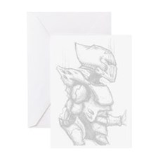 Armoured Space Elf Greeting Card