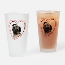 Pug Paw Prints Drinking Glass