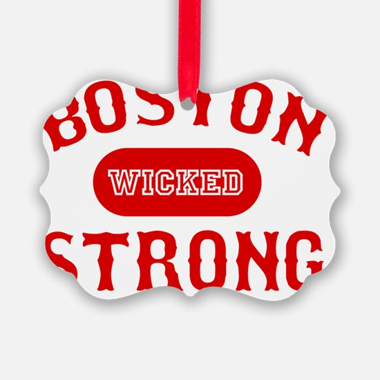 Boston Wicked Strong - Red Ornament
