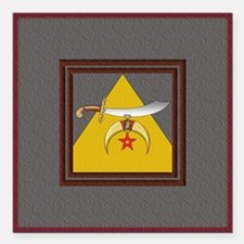 "The Scimitar and Pyramid Square Car Magnet 3"" x 3"""