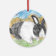 Dutch Bunny Round Ornament